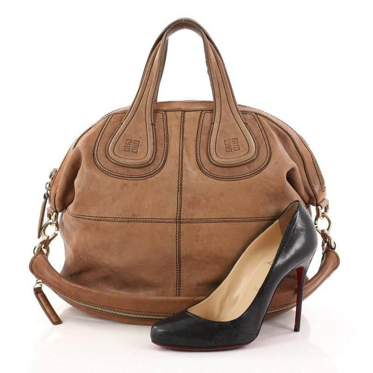 0ccacd02b369 This authentic Givenchy Nightingale Satchel Leather Medium is a stylish and  functional carry-all fit