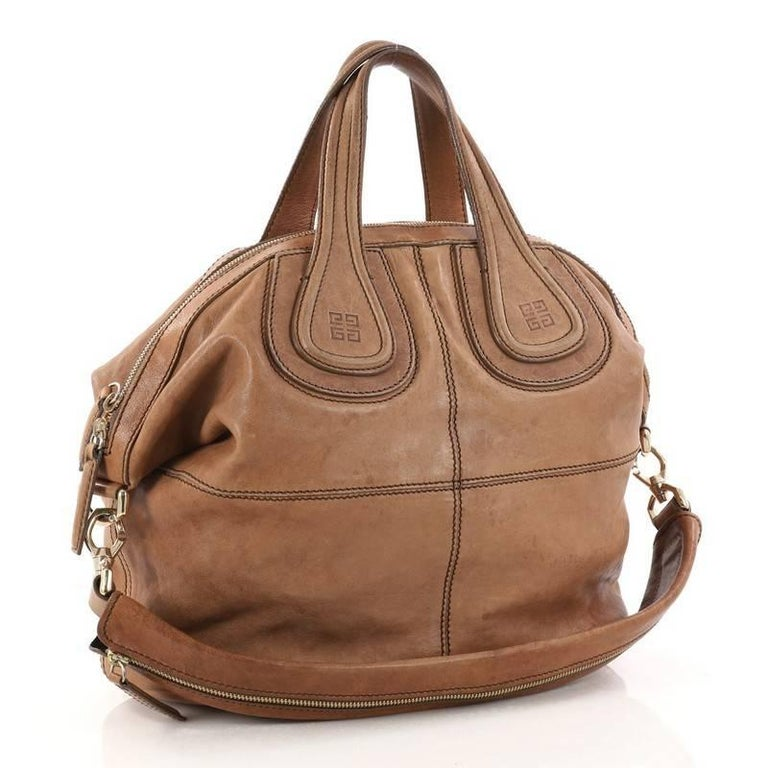 7864885df47f Brown Givenchy Nightingale Satchel Leather Medium For Sale