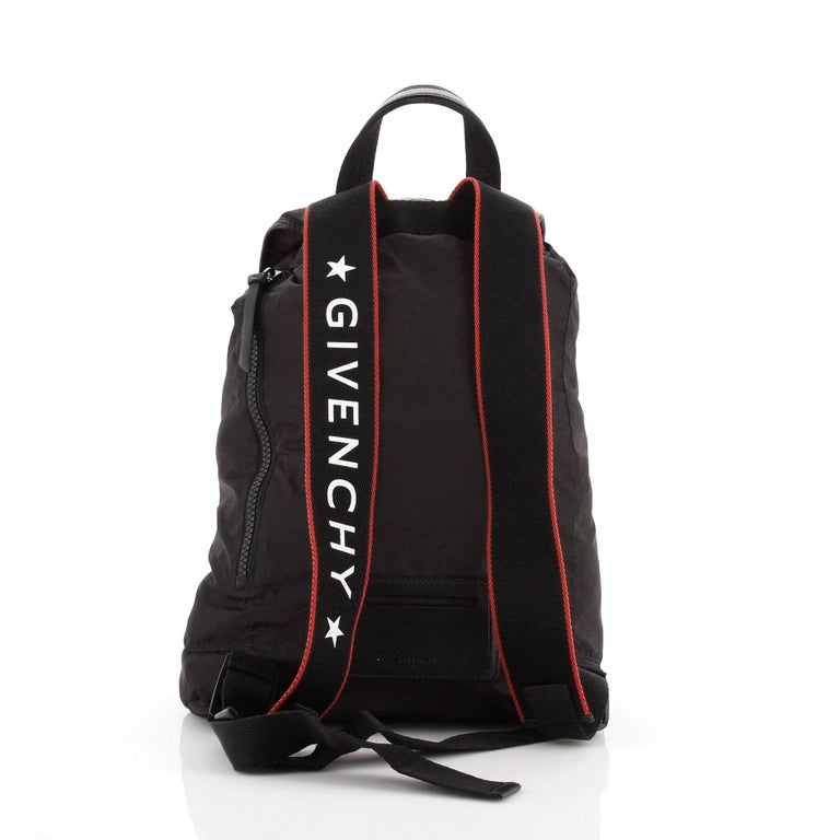 Black Givenchy Obsidia Buckle Backpack Nylon For Sale