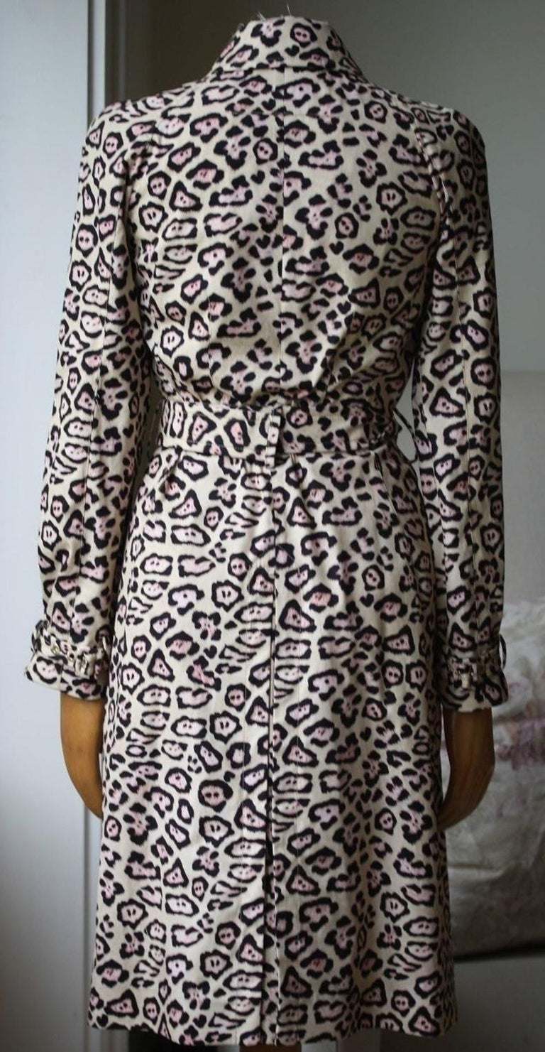 Givenchy Oversized Leopard-Print Trench Coat In Excellent Condition For Sale In London, GB