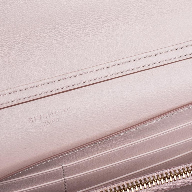 Givenchy Pale Pink Leather GV3 Wallet On Chain For Sale 1