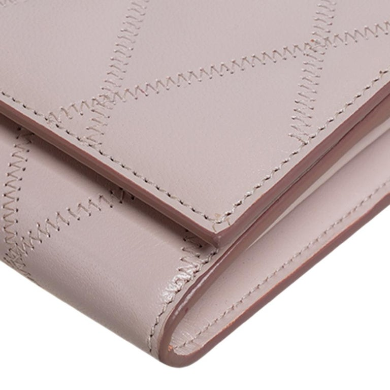 Givenchy Pale Pink Leather GV3 Wallet On Chain For Sale 2