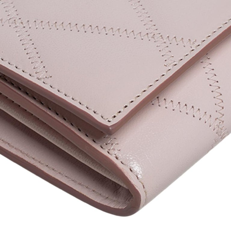 Givenchy Pale Pink Leather GV3 Wallet On Chain For Sale 3