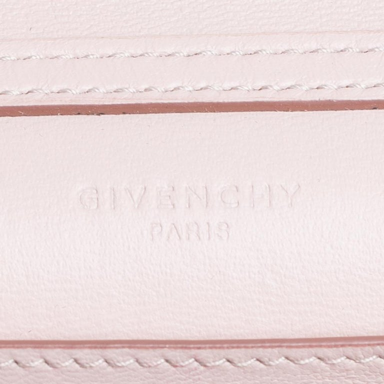 Givenchy Pale Pink Leather GV3 Wallet On Chain For Sale 4