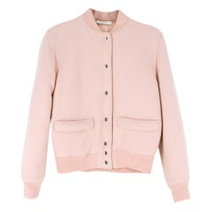 Givenchy Pale Pink Wool Bomber Jacket SIZE 34