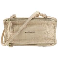 Givenchy Pandora Bag Crocodile Embossed Nubuck Mini