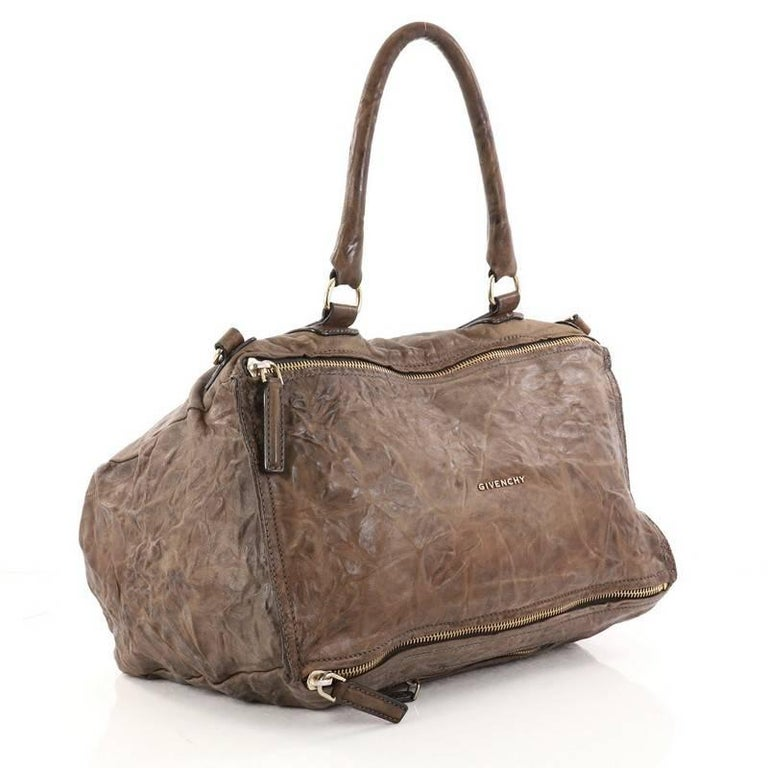 Brown Givenchy Pandora Bag Distressed Leather Large For