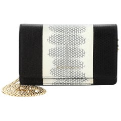 Givenchy Pandora Chain Wallet Python Embossed Leather