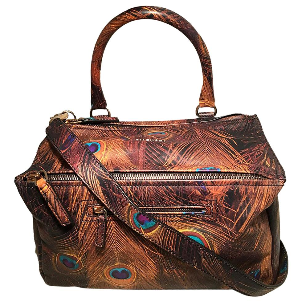 Givenchy Pandora Peacock Leather Shoulder Bag