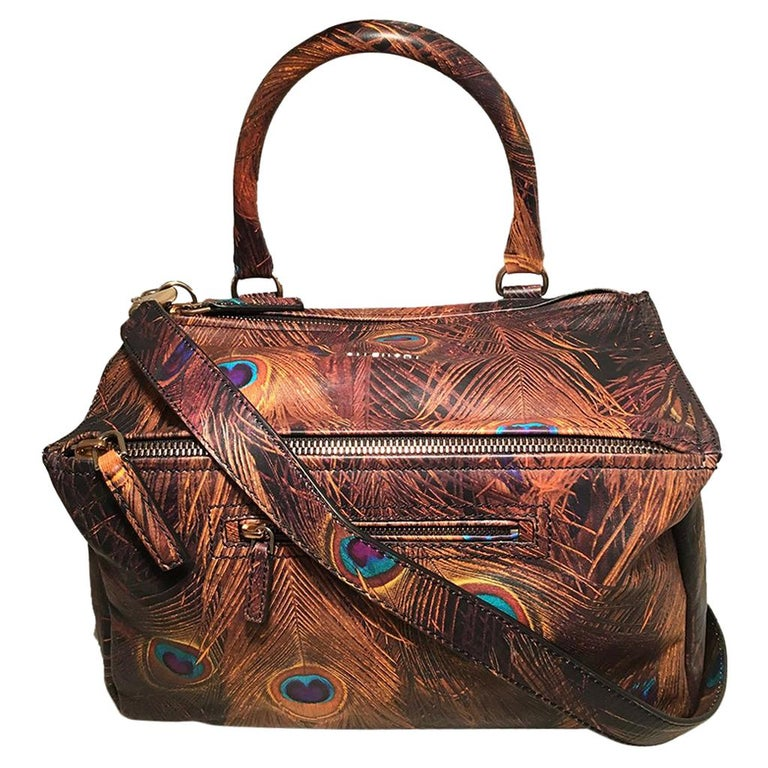 c67a1f9271 Givenchy Pandora Peacock Print Leather Shoulder Bag For Sale at 1stdibs