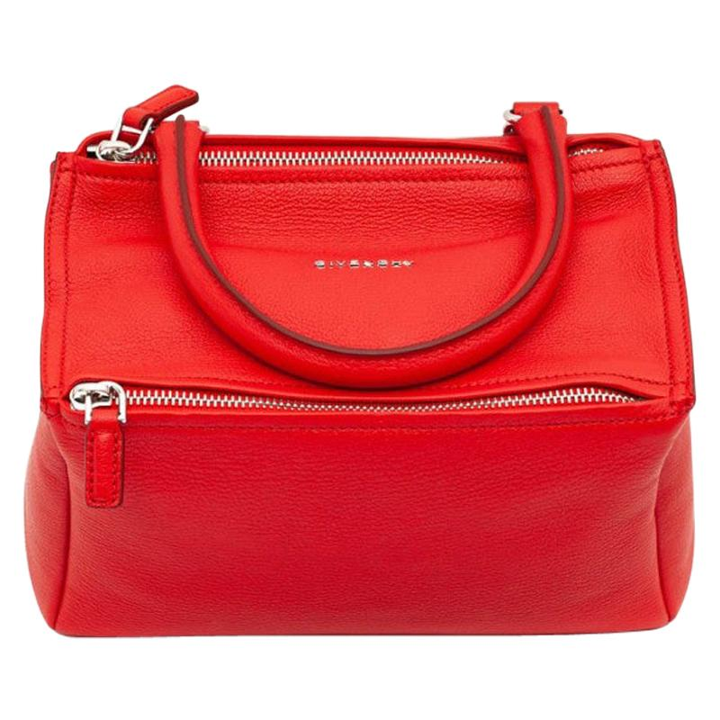 GIVENCHY Pandora Red Grained Leather Bag