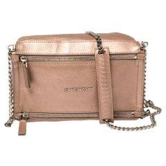 Givenchy Pink Leather Mini Pandora Chain Shoulder Bag
