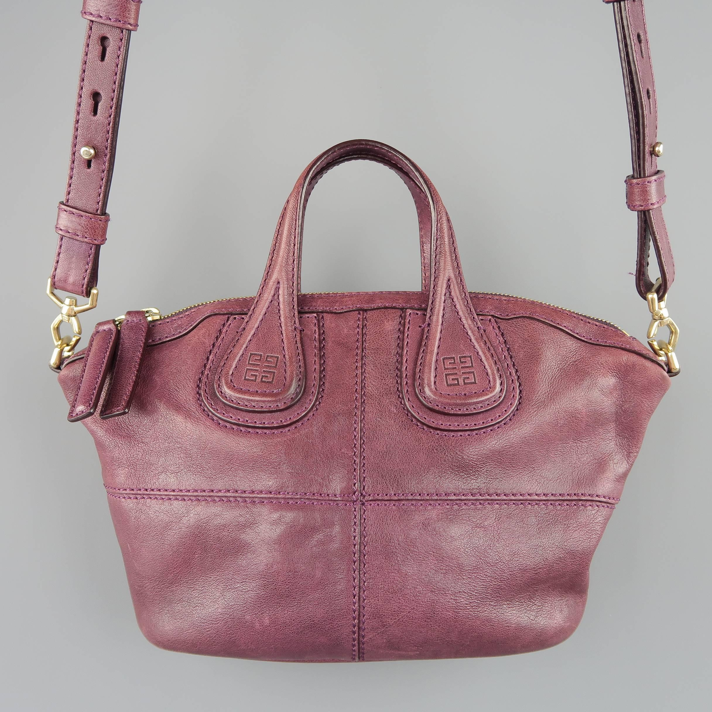 505c7e7b2c Givenchy Plum Purple Leather Nightingale Mini Handbag at 1stdibs