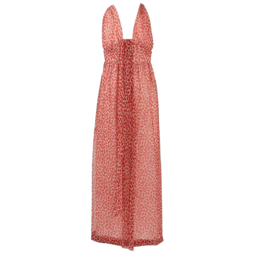Givenchy Printed Plunging Maxi Dress