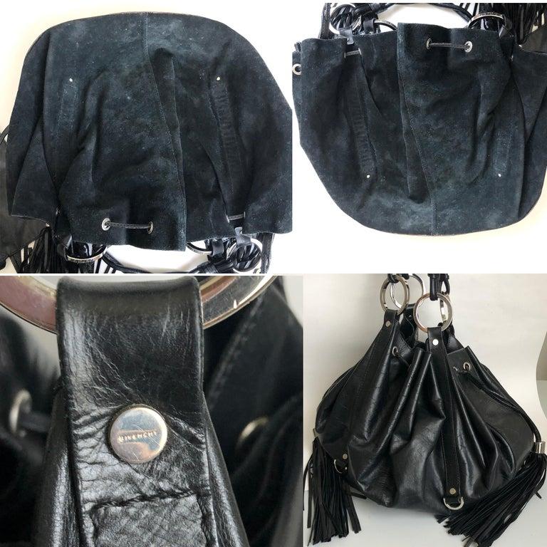 Givenchy Pumpkin Hobo Bag Drawstring Tote Black Leather  For Sale 2