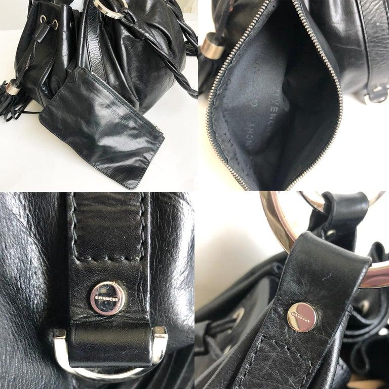 Givenchy Pumpkin Hobo Bag Drawstring Tote Black Leather  For Sale 3