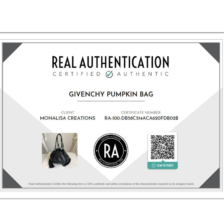 Givenchy Pumpkin Hobo Bag Drawstring Tote Black Leather  For Sale 4