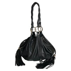 Givenchy Pumpkin Hobo Bag Drawstring Tote Black Leather
