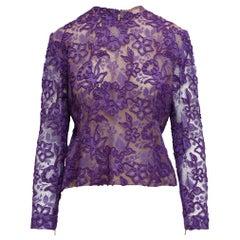 Givenchy Purple Lace Blouse