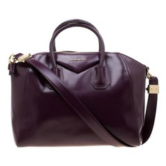 Givenchy Purple Leather Antigona Satchel