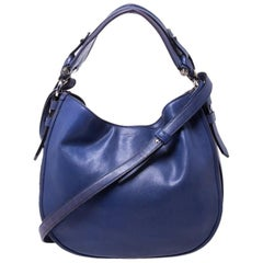 Givenchy Purple Leather Hobo