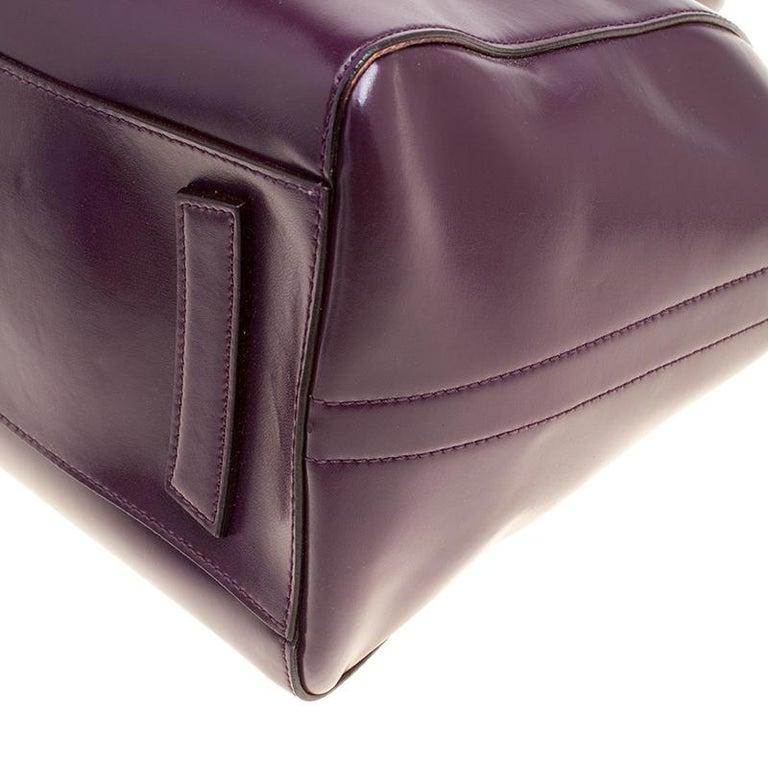 Givenchy Purple Leather Medium Antigona Top Handle Bag For Sale at ... 1874661e0773e