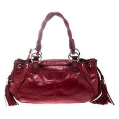 Givenchy Red Leather Drawstring Shoulder Bag