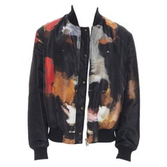 GIVENCHY RICCARDO TISCI abstract Doberman reversible black bomber EU48 M