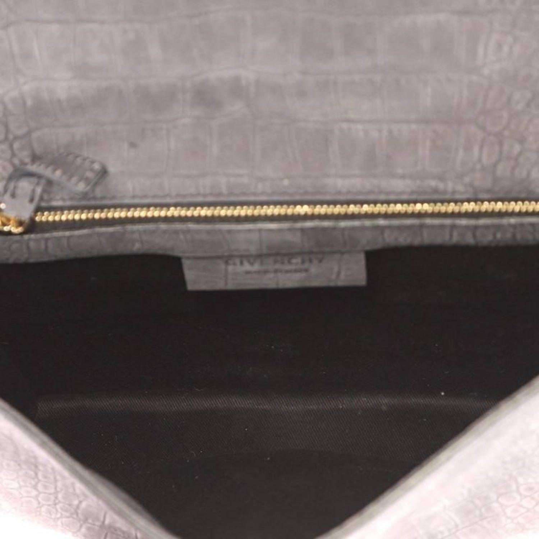 ddfdf6ca6745 Givenchy Shark Envelope Shoulder Bag Crocodile Embossed Nubuck at 1stdibs