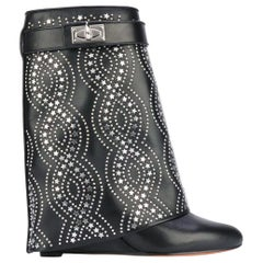 Givenchy Shark Lock Studded Leather Ankle Boots