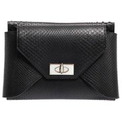 Givenchy Shark-Tooth Python Clutch Bag