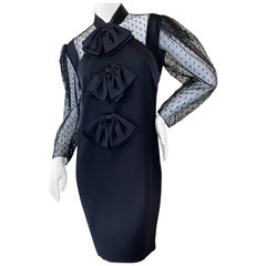 Givenchy Sheer Dot Dress w Bows by Clare Waight Keller New from Bergdorf Goodman