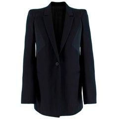 Givenchy Silk Paneled Longline Tailored Jacket - Size US 6