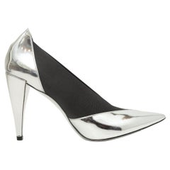 Givenchy Silver & Black Pointed-Toe Pumps