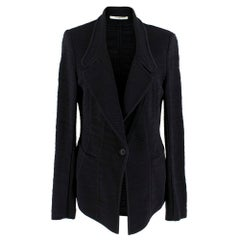Givenchy Single Breasted Black-Knit Blazer SIZE M