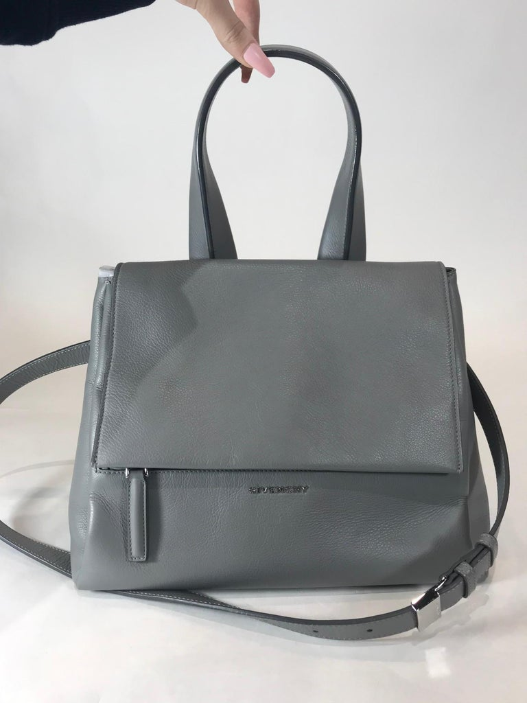 Gray Givenchy Small Pandora Pure Satchel For Sale