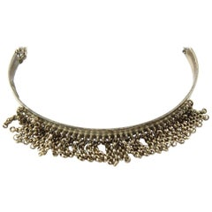 Givenchy Sterling Silver Choker Necklace