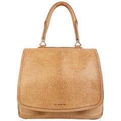 Givenchy Tan Leather Large New Line Flap Tote Shoulder Bag