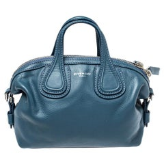 Givenchy Teal Blue Leather Mini Nightingale Bag