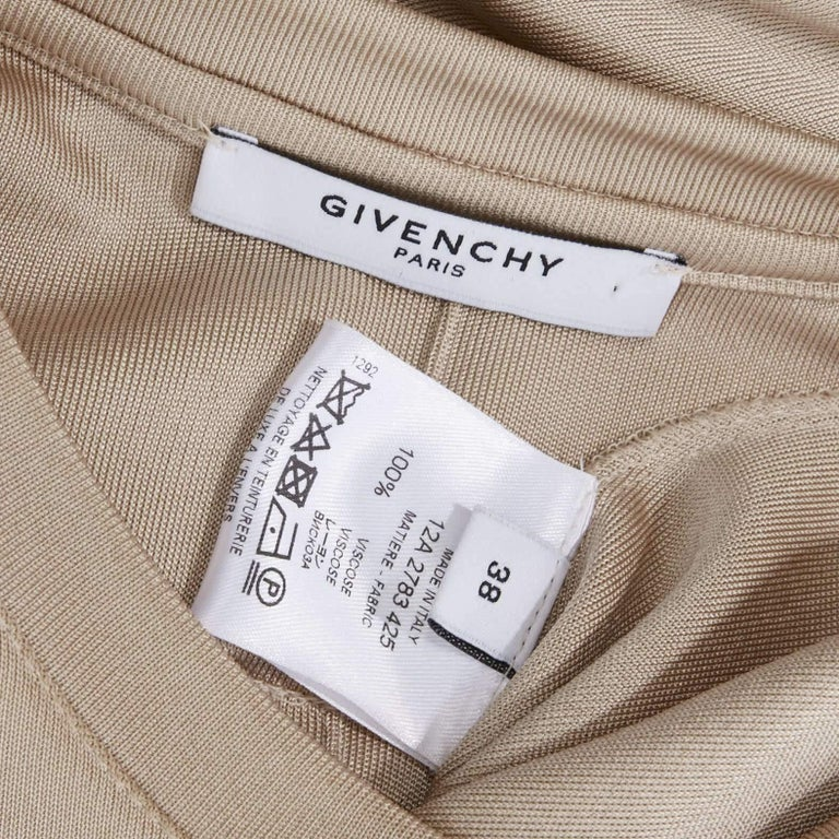 GIVENCHY TISCI beige nude viscose loose tshirt maxi skirt design dress gown FR38 7