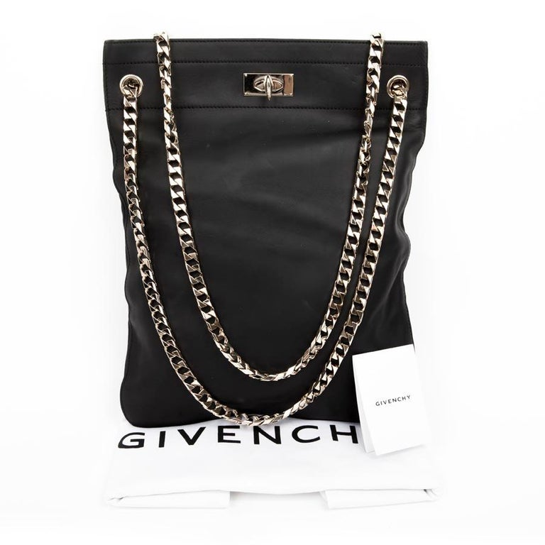 GIVENCHY Tote Bag in Black Matte Leather For Sale at 1stdibs ae23ed22cb807