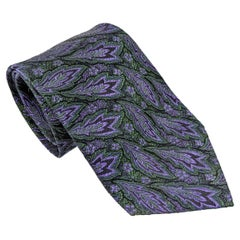 Givenchy Vintage Silk Brocade Mens Tie, 1970s
