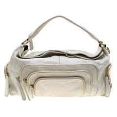 Givenchy White Leather Multiple Zip Shoulder Bag