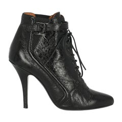 Givenchy Woman Ankle boots Black Leather IT 37