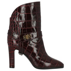 Givenchy Woman Ankle boots Burgundy Leather IT 38