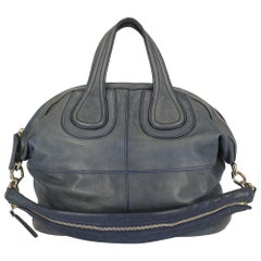 Givenchy Woman Shoulder bag Nightingale Navy Leather