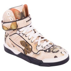 Givenchy Womens Tyson Butterfly Leather High Top Sneakers