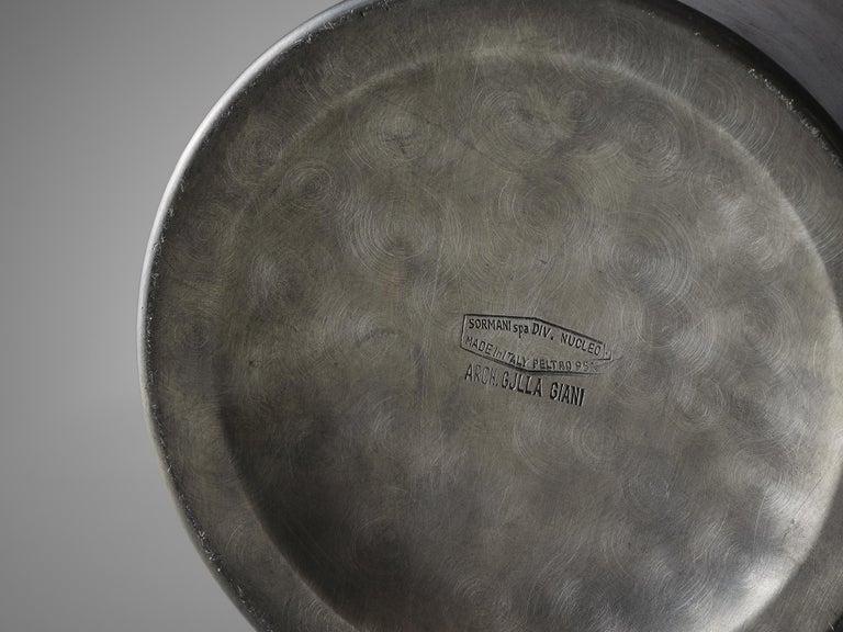 Pewter Gjilla Giani for Sormani 'Radar' Table Lamp For Sale