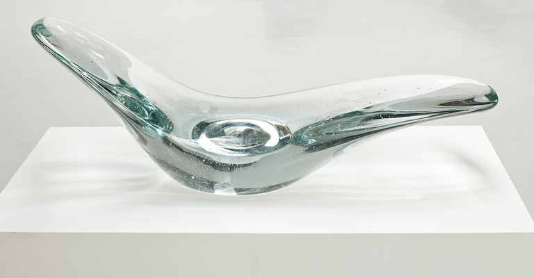 Glacier, Sculptural Chaise Longue Cast in Optical Glass by Brodie Neill 10