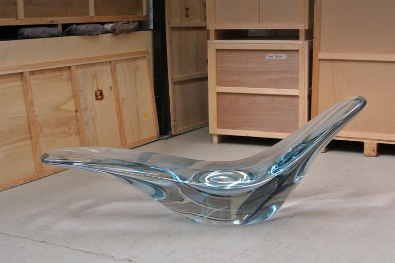 Glacier, Sculptural Chaise Longue Cast in Optical Glass by Brodie Neill 9